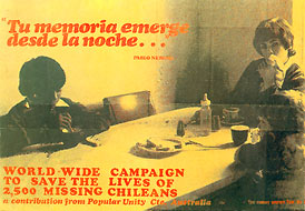 World wide campaign to save the lives of 2500 missing chileans. - Australia