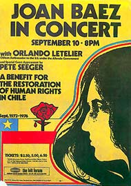 Joan Baez in concert ... A benefit for restoration of human rights in Chile. - Estados Unidos